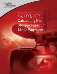 4K, HDR, HFR: Calculating the Storage Impact in Media Workflows