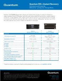 Quantum DXi versus Exagrid competitive sales tool