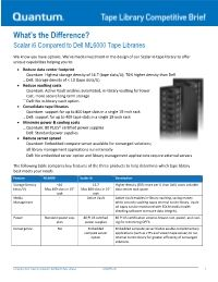 Scalar i6 Compared to Dell ML6000 Tape Libraries Competitive Brief