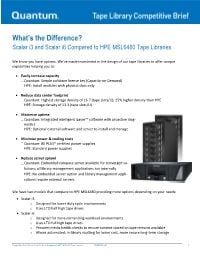 Scalar i3 & i6 compared to HPE MSL6480 Competitive Brief