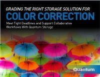 Defining Storage Requirements for Color Correction