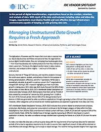 Managing Unstructured Data Growth Requires a Fresh Approach