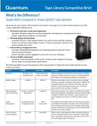 Scalar i6000 compared to Oracle SL8500 Competitive Brief