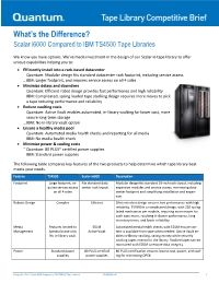 Scalar i6000 compared to IBM TS4500 tape libraries Competitive Brief